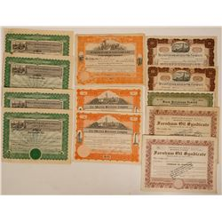 US Oil Stock Certificate Group (12)  (114343)