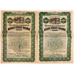 City/County San Francisco  Geary/Market Street Railway  bonds  (114845)