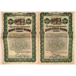 City/County San Francisco  Geary/Market Street Railway  bonds  (114846)