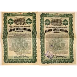 City/County San Francisco  Geary/Market Street Railway  bonds  (114847)