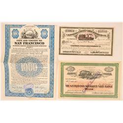 San Francisco Railway Co Stock and Bond  (114904)