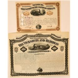 Louisiana and Mississippi RR stock/bond  (114686)