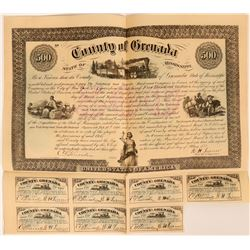 The Vicksburg and Nashville Railroad Co Grenada County aid bond  (114671)