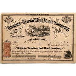 Virginia and Truckee Rail Road Co. Stock to DO Mills  (115804)