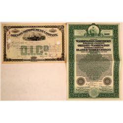 Oregon RR stock/bond  (114859)