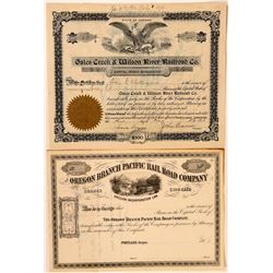 Two Oregon RR stocks  (114860)