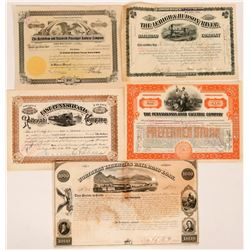 Pennsylvania Railroad Stocks  (115847)
