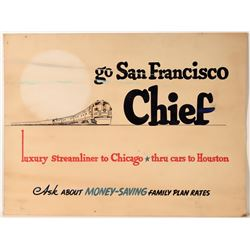 "Railroad Advertising Sign / For "" San Francisco Chief  (109632)"