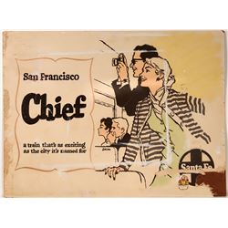 "Railroad Advertising  Sign / "" San Francisco Chief ""  (109639)"