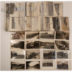Major Collection of Train Wreck Real Photo Postcards  (113107)