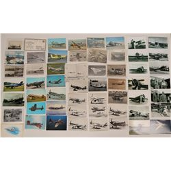 Collection of Aviation Photos - Air Races, Pilots, Military Aircraft; postcards and First Flight Cov