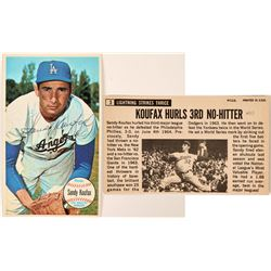 Autographed Sandy Koufax Topps #3 Card  (116084)