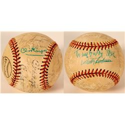 1973 Chicago Cubs Team Signed Baseball - Faded  (105939)