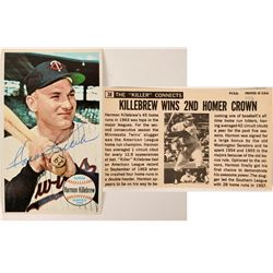 Hand Signed Harmon Killebrew Topps #38 Card  (116085)
