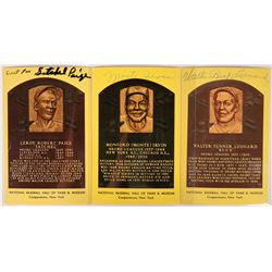 Autographed Negro League HOF Postcards  (116080)