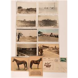 Horse Race Postcard Collection (10) RPC's Included!  (116461)