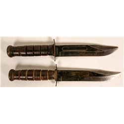 Two Combat Knives; Camillus and KA-BAR military issues  (114449)