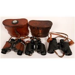 Binoculars, three pair of WW2 optics  (114446)