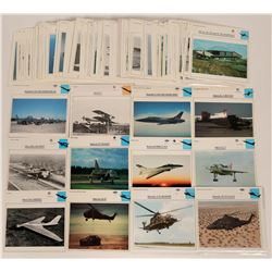 Aircraft Card Collection of about 200 information Cards   (116702)