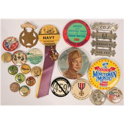 Military Pinback Collection  (116487)