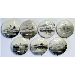Steamship Photo Pins  (114810)