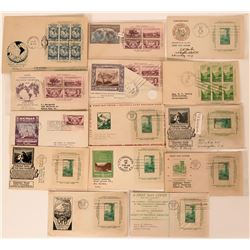 15 U.S. Covers with Souvenir Sheets & Philatelic Commemorative Plates  (116574)