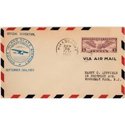 Rhode Island Airport Dedication Cover  (116829)