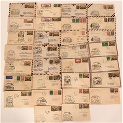 30 First Flight Covers, Routes Canada Air Mail  (116577)