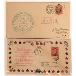 Two 1933 Canada 1st Flight Covers  (115073)