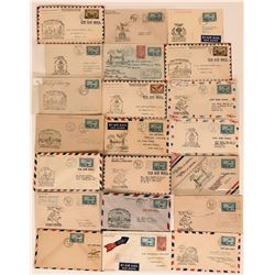 22 Covers First Air Mail Flights Canada to U.S.  (116576)