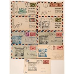 1940s Canadian First Flights Covers (9)  (115038)