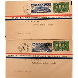 Canadian First Flight Covers: Yukon Airways & Exploration Co., LTD., White Horse Canada   (115045)