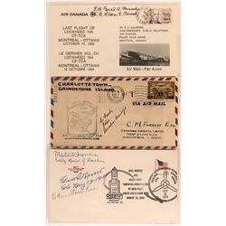 Three Canadian First Flights Covers Signed by Pilots (115096)