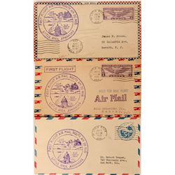 Three Little Rock, Arkansas First Flight Covers  (116799)