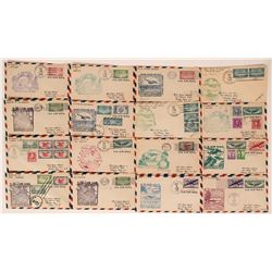 South Pacific First Day Air Mail Covers  (116429)