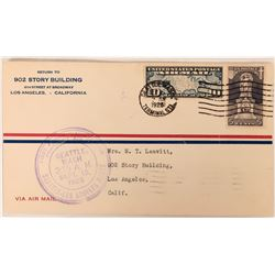 First Flight Cover: Contract Mail Seattle to LA   (116695)