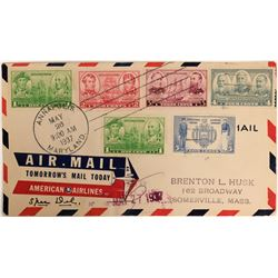 Maryland American Airlines Air Mail Cover   (117106)