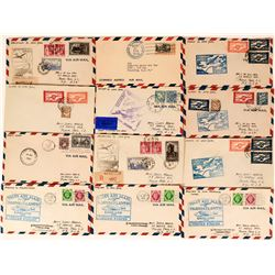 Trans Pacific Air Mail Covers (12)  (116436)