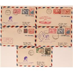 Five 1941 Transpacific First Day Covers  (116666)