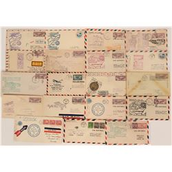 Exchange Club Half Ad Air Mail Covers  (116671)