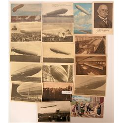 Lot of 17 Graf Zeppelin Pioneer Postcards Lithos and RPCs  (116581)