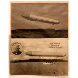 Two German Pioneer Postcards Graf Zeppelin  (116356)