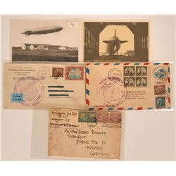 Zeppelin Airship Covers and Postcards  (116350)
