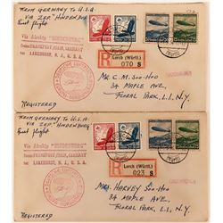 A Pair of First Flight Hindenburg Postmarked Covers  (116662)