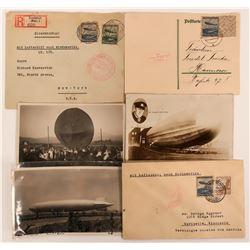 Hindenburg Zeppelin Nordamerika Europa Postcards Covers  (116798)
