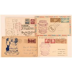 Four 1936 Hindenburg Postmarked Covers  (116586)