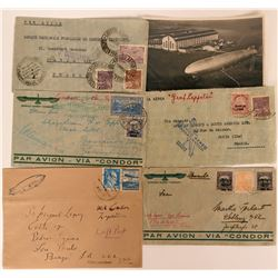 French, German Zeppelin-Condor Covers and RPC Postcard  (116353)