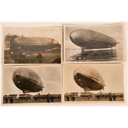 Four Postcards of Zeppelin incl. Releasing Water Ballast  (116357)