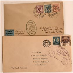 Two International Zeppelin Marked Covers  (116585)