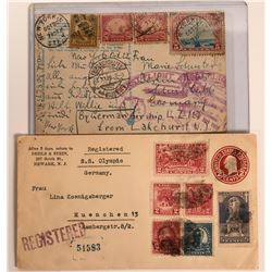 S.S. Olympic Cover  & NY RPC Delivered by Zeppelin  (116584)